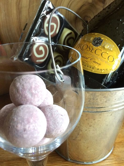 bubbles and chocolate