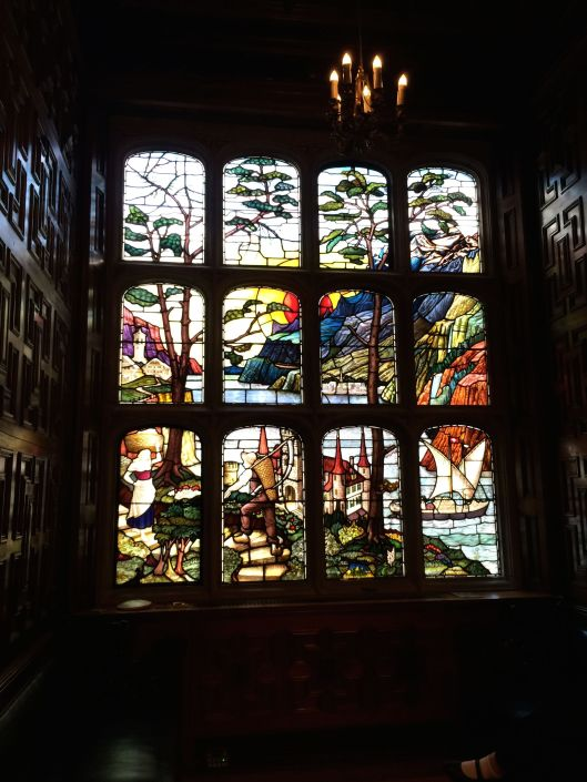 stained glass window at Astor House