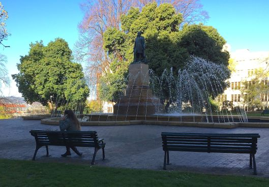 bench fountain